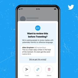 Twitter wants you to think twice before posting that reply
