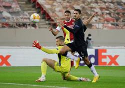 Aubameyang heads Arsenal into last 16 of Europa League
