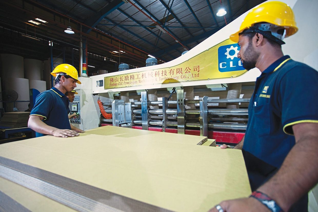 High-tech ops: High-speed printing machine at Century Bond's plant in Nilai, Negri Sembilan. Century Bond contributed RM61.3mil, or 14%, to group revenue, given the higher traction from the offset carton and consumer divisions.