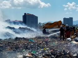 Firemen continue to battle blaze at Ampang Jajar waste disposal site