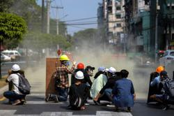 Myanmar police launch most extensive crackdown; hundreds arrested