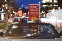Biden urges Amazon workers to vote in Alabama unionisation drive