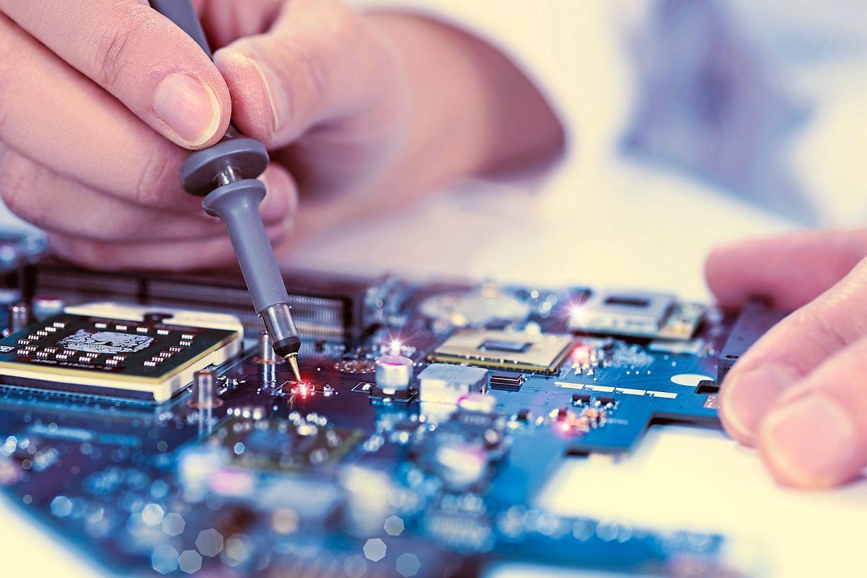 Electronics manufacturing. - File pic