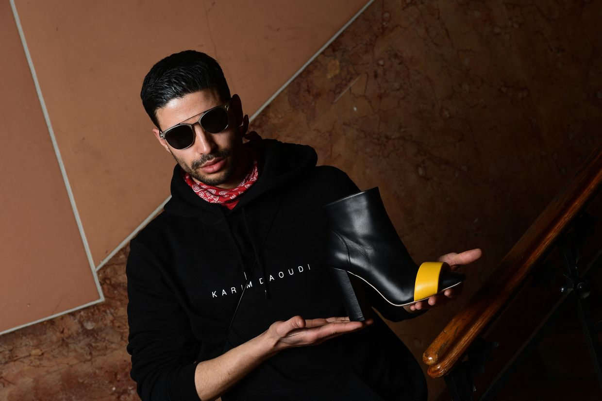 Moroccan shoe designer Karim Daoudi. Photo: AFP