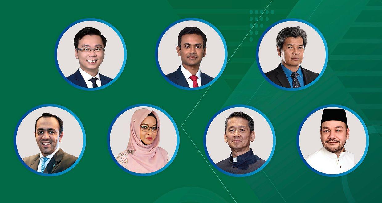 Useful insights: (clockwise from top left) Standard Chartered Bank Singapore's Koh and Divya, HDC's Hanisofian, Tanamera Tropical's Faisal, Julie's Ang, Matrade's Leany and Standard Chartered Saadiq Malaysia's Bilal.