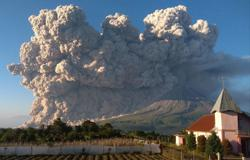 Volcano marks first big eruption in nearly eight months