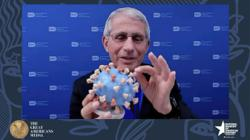 Dr Anthony Fauci presents his personal virus 3D model to Smithsonian