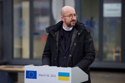 EU's Michel says EU united and firm over Russia sanctions related to Navalny