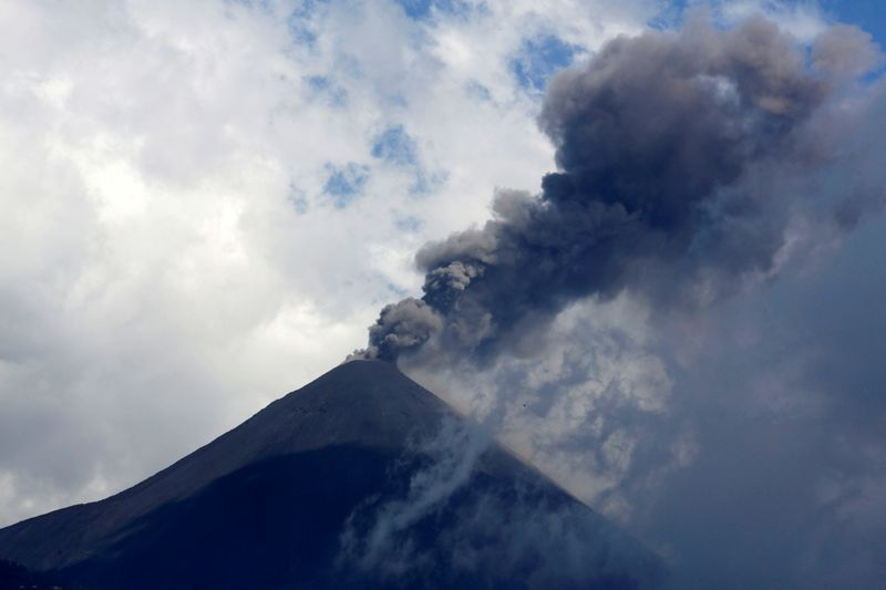 The Pacaya volcano spews smoke and ash as seen from El Rodeo Guatemala March 3 2021. REUTERSJosue Decavele