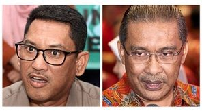 Weighing in: Ahmad Faizal (left) and Takiyuddin.