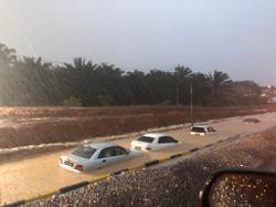Flash floods hit five areas in Melaka
