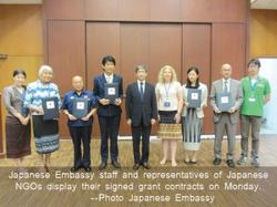 Japan provides US$1.8 million grant for five development projects in Laos