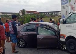 Siblings aged seven, 14, injured, parents die in car-van collision