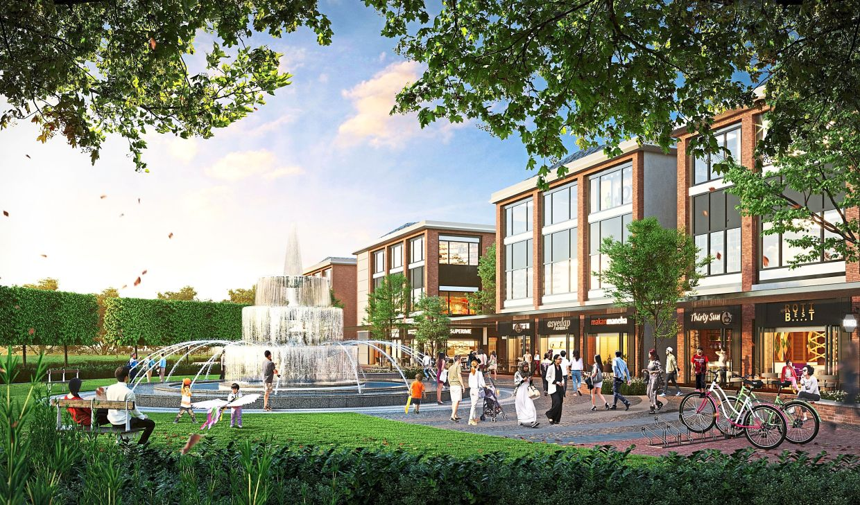 The Townsquare's open, al fresco spaces complement Gamuda Cove's WNH facilites with  post-pandemic retail convenience.
