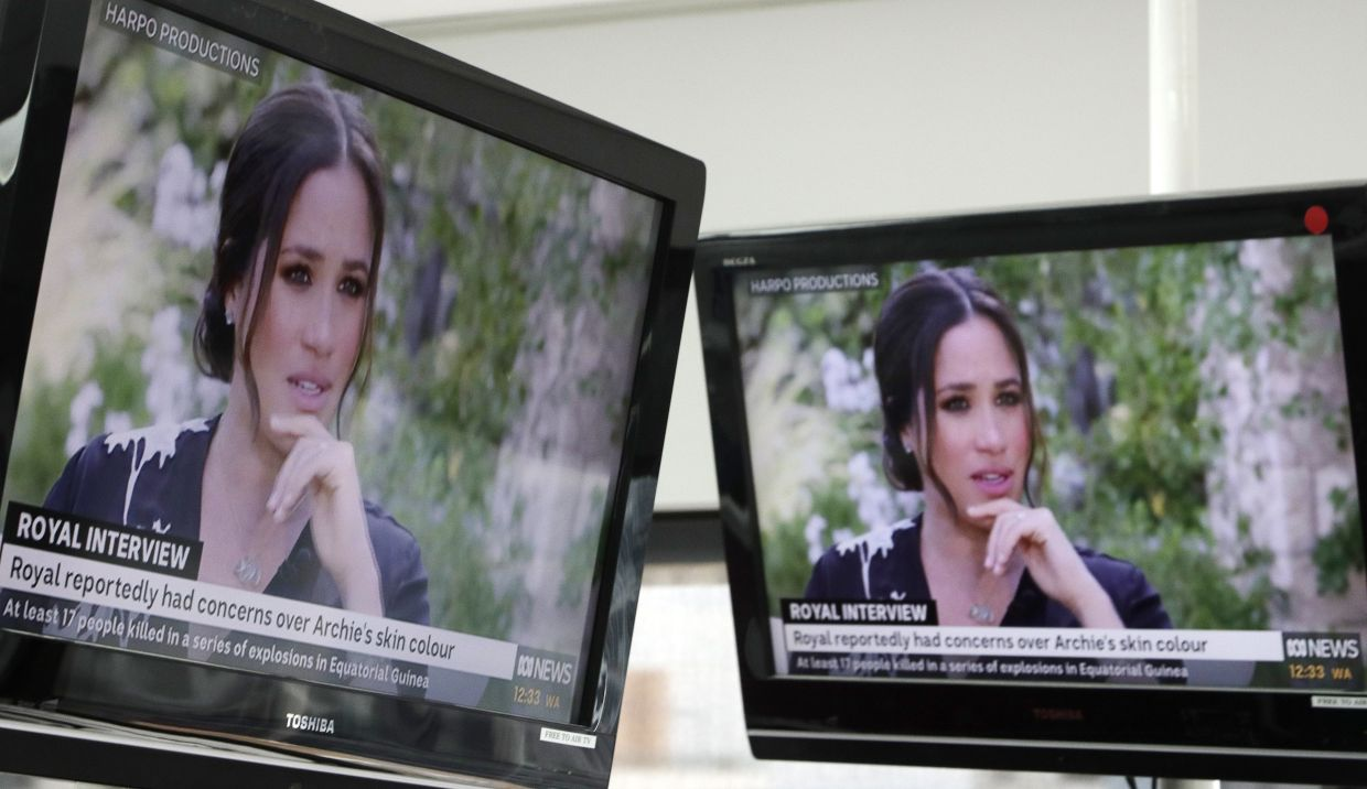 The Duke and Duchess of Sussex's interview by Oprah Winfrey is seen as a crisis point in the monarchy's troubled times as the acrimonious fallout from Megxit worsened. Photo: AP