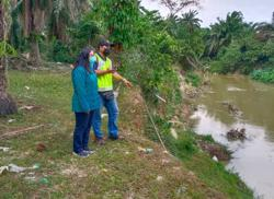 Cause of dead fish in Sg Kulim due to low oxygen level