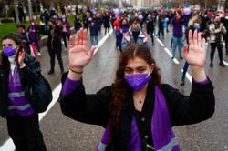 Thousands of women protest in Spain demanding equal rights