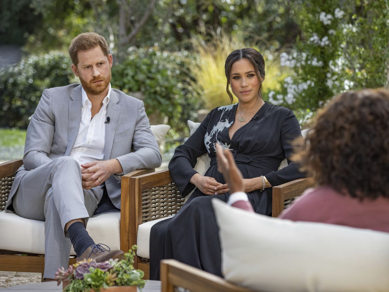 Markle dropped the bombshell in her interview with Oprah Winfrey. — AP