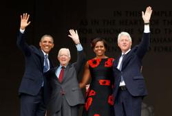 Former U.S. presidents Obama, Bush, Clinton, Carter and First Ladies promote vaccine in new advertisements