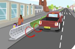 UK researchers develop road barriers that deflect air pollution.