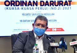 Saifuddin: Fake news law in Emergency Ordinance only a short-term remedy