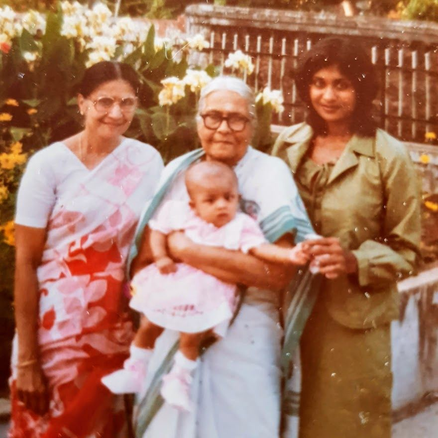 Four generations: Ruth (right) with her mother, Gladys Elisha and grandmother, Wilhelmina Soans and daughter Serita Isaac in a photo taken in 1987 in Bangalore, India. Photo: Ruth Isaac