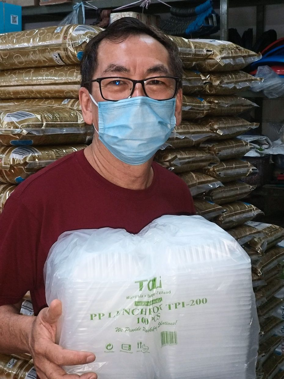 Khoo says he stopped selling polystyrene containers a few years ago when demand for biodegradable ones increased.