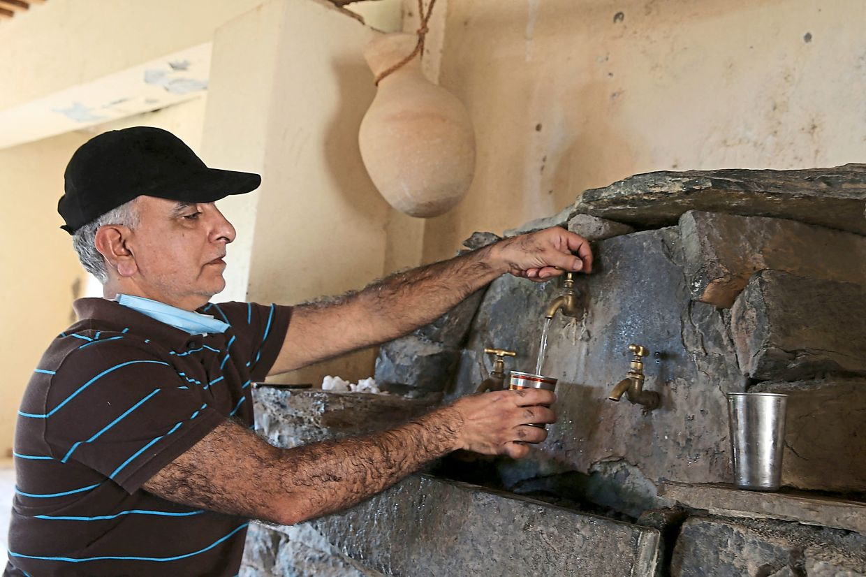 Traditional items like this 'water cooler' have been restored and used in the new hotels.