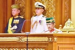 Be courageous and transparent, Brunei king tell Legislative Council members