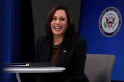 Kamala Harris makes U.N. debut, pledges to fight for women, democracy