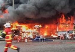 Pasar Datuk Keramat damaged in afternoon fire