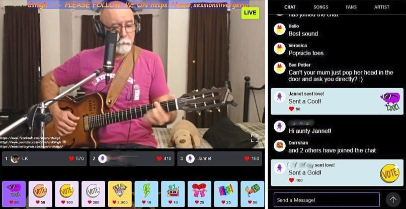 Gerard enjoys his weekly live streams, as he has garnered more attention on social media from new fans.
