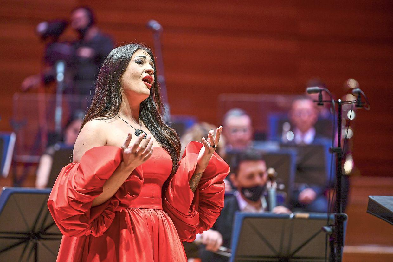 Jashari performing at a concert in Skopje, Macedonia, last December.