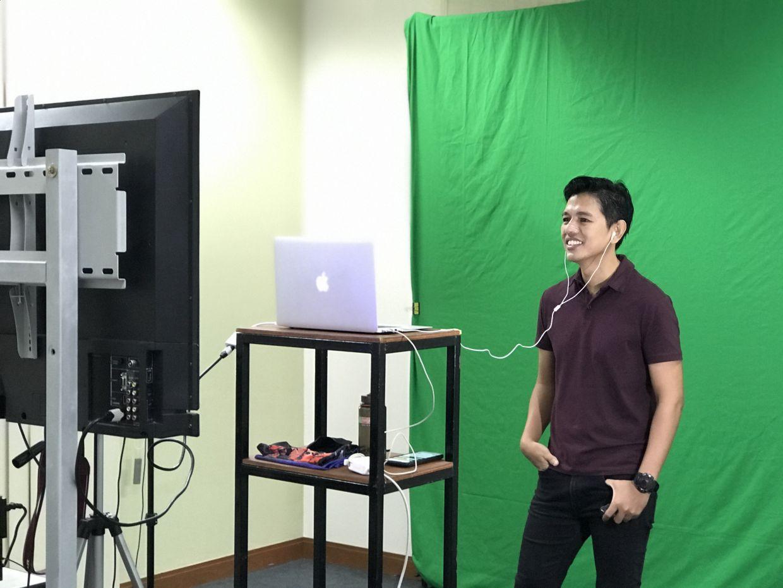 Giving online motivational talks during pandemic. Photo: Mohd Khairizal Mohd Khalif