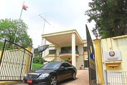 A hive of activity at North Korean embassy