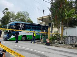 Bus sighted entering North Korean embassy