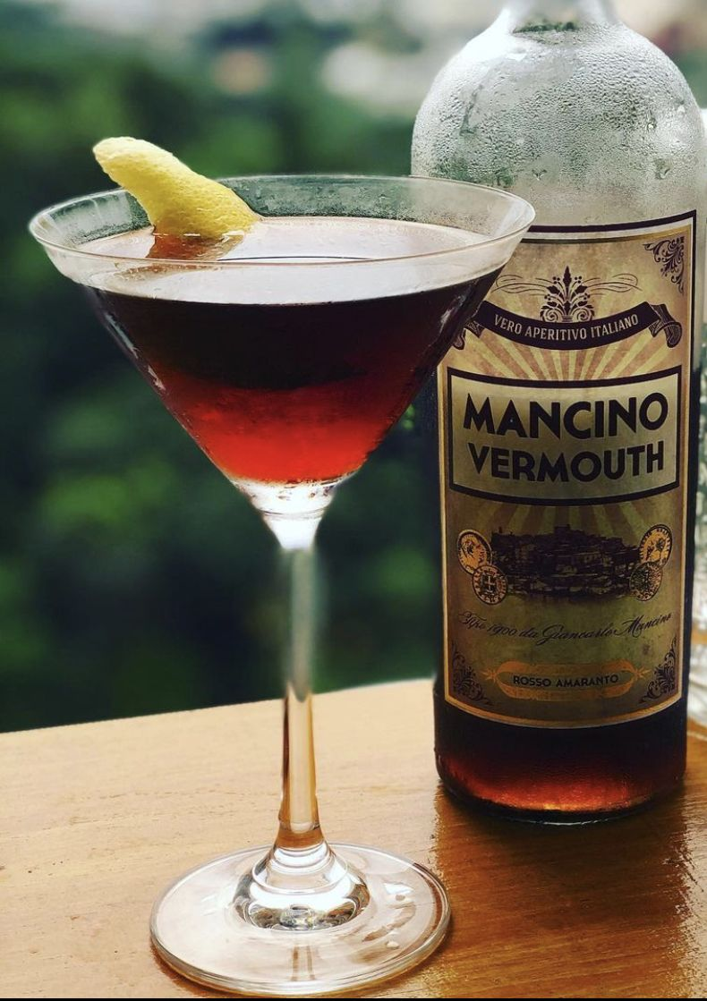 When a cocktail calls for sweet vermouth, like the Manhattan, it usually refers to the dark red Rosso.