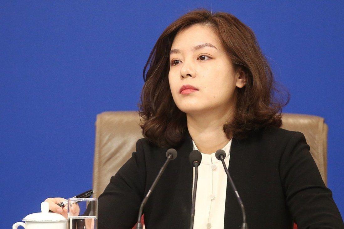 Chinese translator Zhang Jing during the summit. Photo: Handout