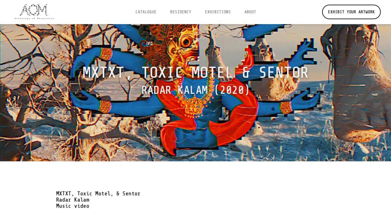 A screen shot of Toxic Motel & Sentor's music video. Photo: AOM