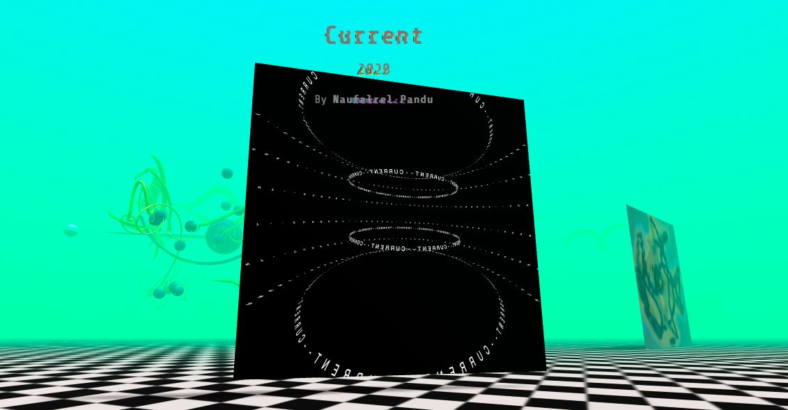 An image of digital artist Naufalrel Pandu's 'Current' (2020), which is part of the 'Anthology Of Metaverses 1.0' virtual exhibition. Photo: AOM