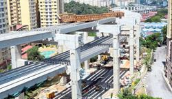 Fears loom over elevated highway construction site