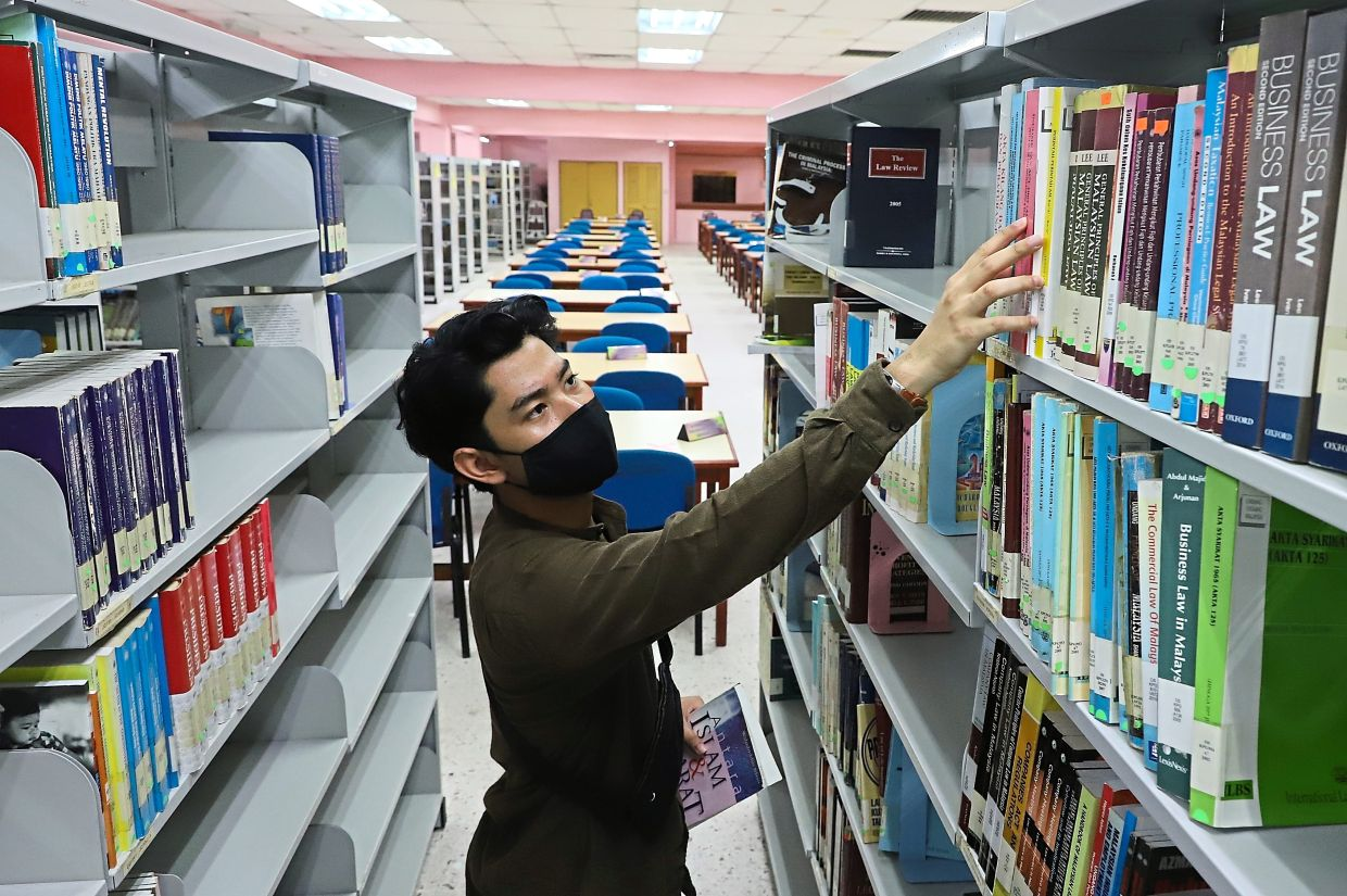 The upgraded library is equipped with facilities such as seminar rooms and security system using radio-frequency identification.