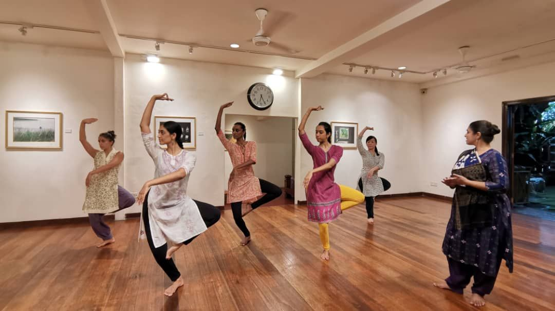 Parwati Dutta in rehearsal with the Sutra dancers for 'Triple Frontiers', which finally opens this April. Photo: Sutra Foundation