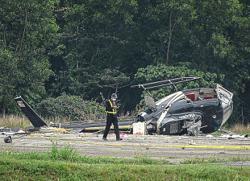 Horrifying thunderous roar preceded helicopter crash