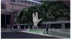 Live long in sculpture: 6m art installation planned for Mr Spock symbol