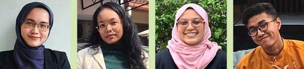 Congratulations: Iffah, Aisy, Nur Aniess and Nur Amirul (from left).