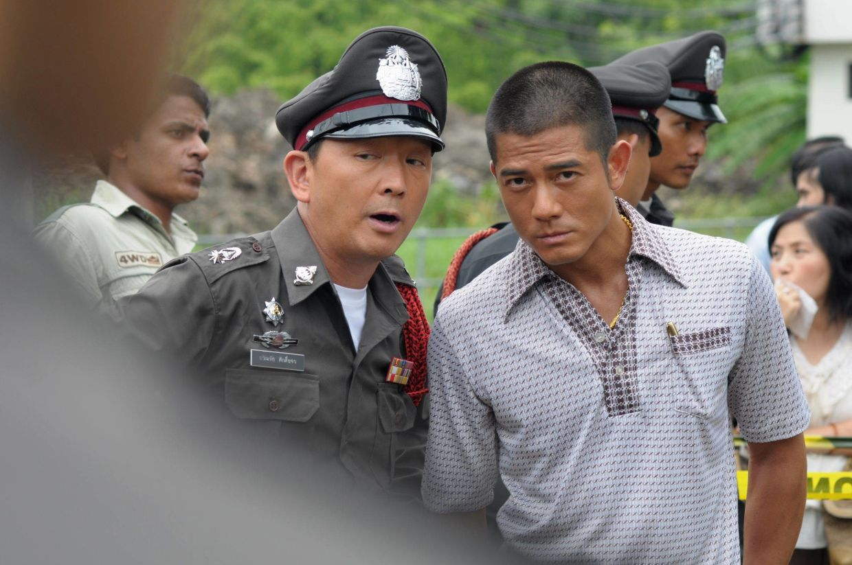 Liu Kai-Chi (left) and Aaron Kwok in the Oxide Pang-helmed suspense thriller The Detective 2.