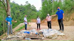 Illegal dumpsite along dirt road in Bandar Kinrara 5, Puchong