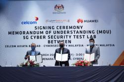 Cybersecurity M'sia, Celcom & Huawei team up for 5G development