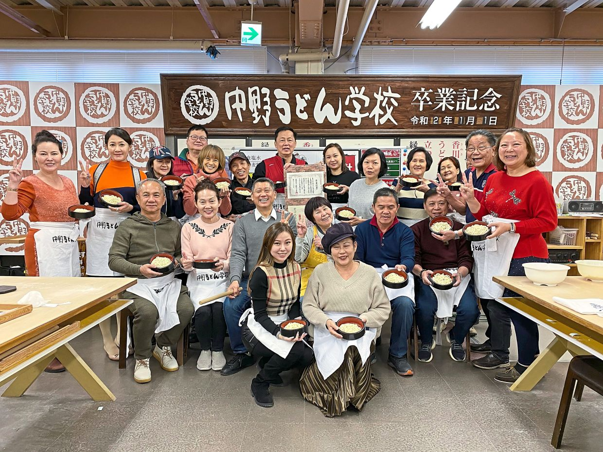 At the Nakano Udon School, you get to learn how to make the famous Sanuki udon noodles from its master chefs.